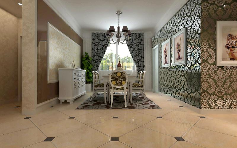 现代欧式客厅餐厅家居装饰设计住宅艺术装饰设计室内设计效果图实景图