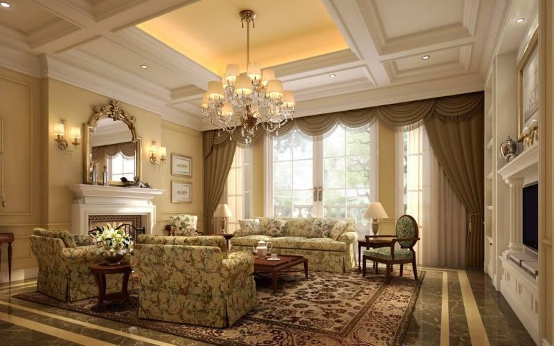 奢华古典欧式风格经典住宅艺术装饰设计室内设计效果图实景图欧式风格图片