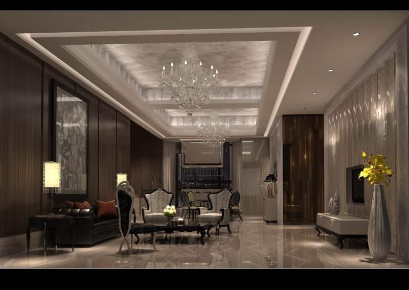 怡宝花园 经典奢华古典欧式风格装饰艺术家居住宅室内设计效果图实景