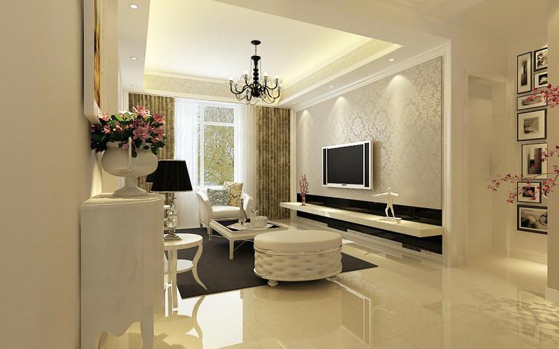 客厅餐厅装饰设计住宅艺术装饰设计室内设计效果图实景图欧式风格住宅