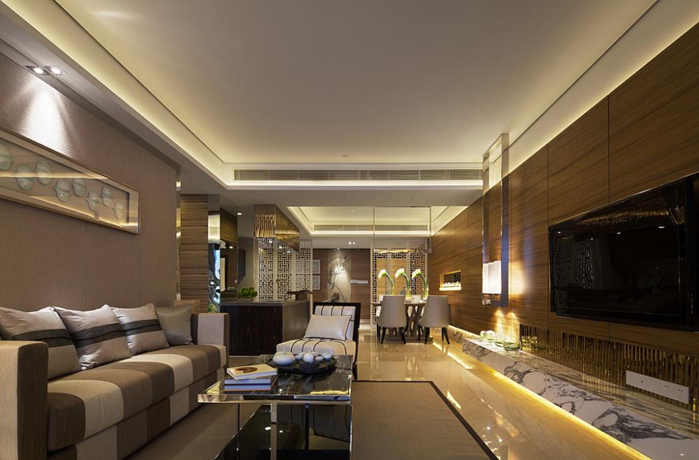 ksl设计事务所新中式风格住宅别墅家居家装室内装饰装修设计实景图