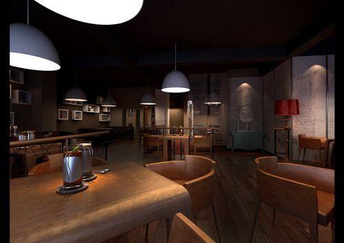 杭州corner咖啡厅工业风格室内装饰装修设计实景图