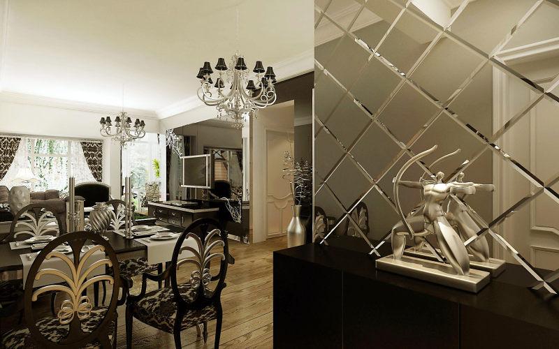 现代欧式沉稳大气黑色调家居装饰设计住宅艺术装饰设计室内设计效果图