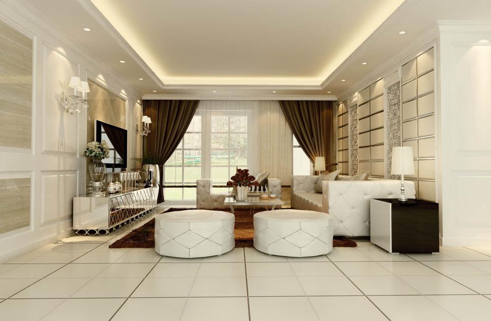 现代欧式客厅餐厅卧室家居装饰设计住宅艺术装饰设计室内设计效果图
