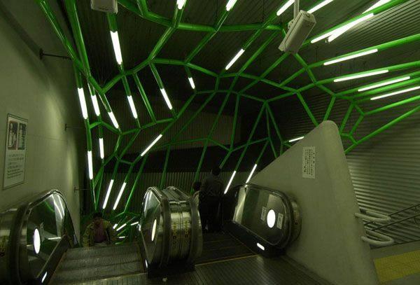 日本饭田桥地铁站 室内办公空间设计实景图