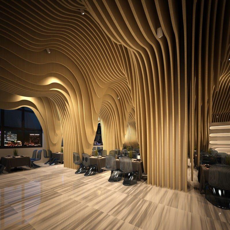 弧形优雅---攀枝花西餐厅休闲娱乐类室内装饰装修设计效果图