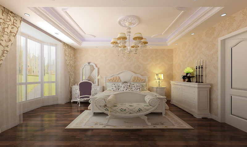 田园欧式风格经典住宅艺术装饰设计室内设计效果图实景图欧式风格住宅