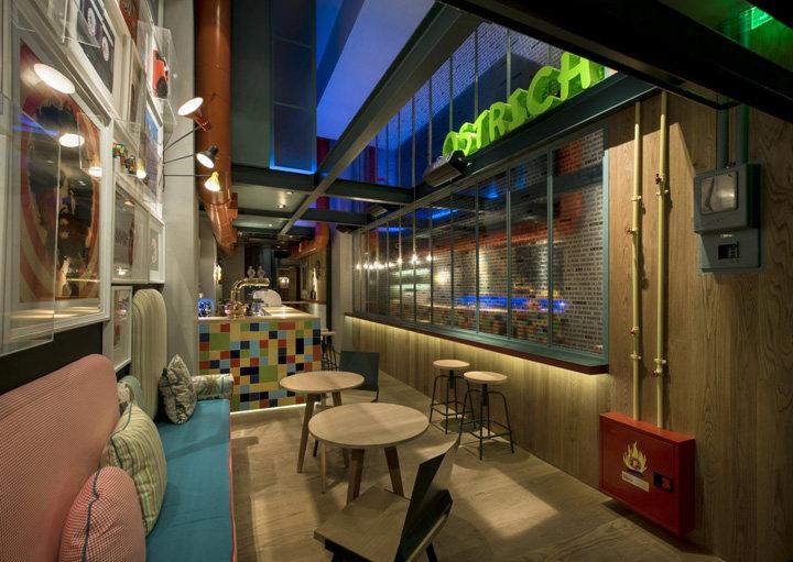 咖啡館和餐廳酒吧--希臘工業風格室內裝飾裝修設計實景圖