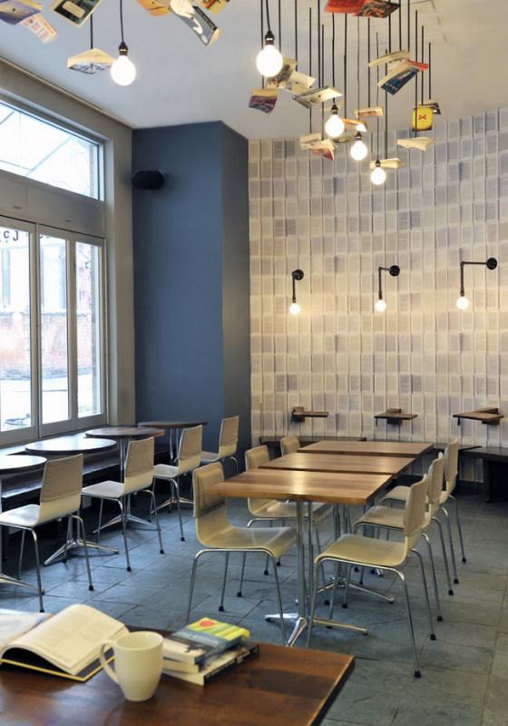 创意的书店主题咖啡馆 front studio混搭风格室内装饰装修设计实景图图片