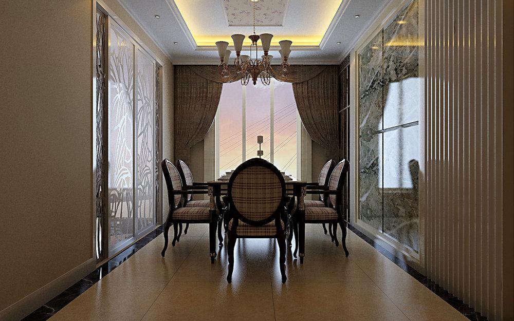 室内 住宅装修 欧式风格 古典欧式别墅家居装饰设计方案效果图奢华