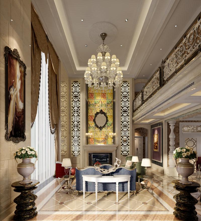 奢华古典欧式大空间别墅住宅装饰设计方案效果图奢华欧式风格经典住宅图片