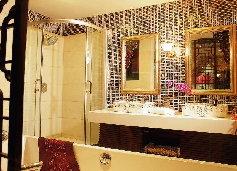 岭南新中式风格住宅别墅家居家装室内装饰装修设计实景图