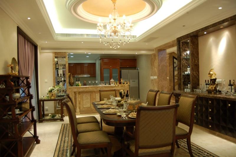 贵阳山水黔城390别墅欧式风格住宅空间装饰装修设计实景图