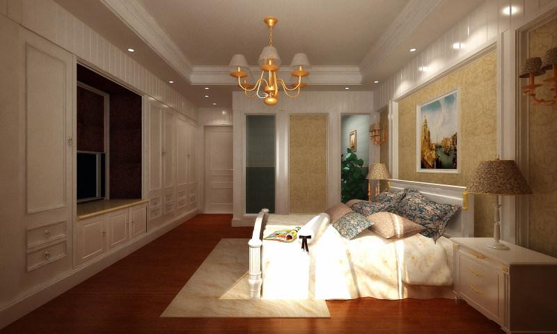 顶层复式欧式风格经典住宅艺术装饰设计室内设计效果图实景图欧式风
