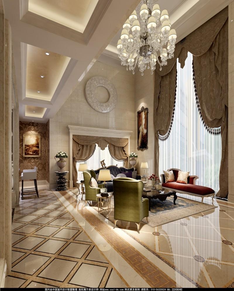 奢华古典欧式大空间别墅住宅装饰设计方案效果图奢华欧式风格经典住宅