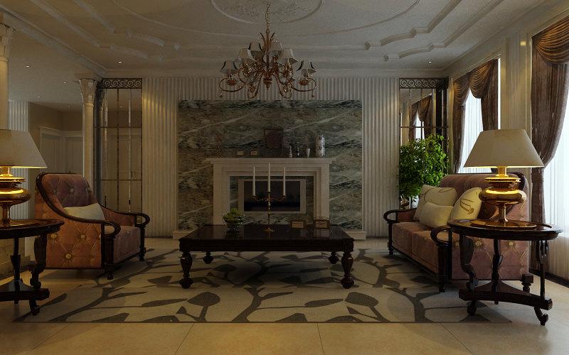 欧式风格经典住宅设计,装饰艺术设计,室内设计效果图实景图住宅空间