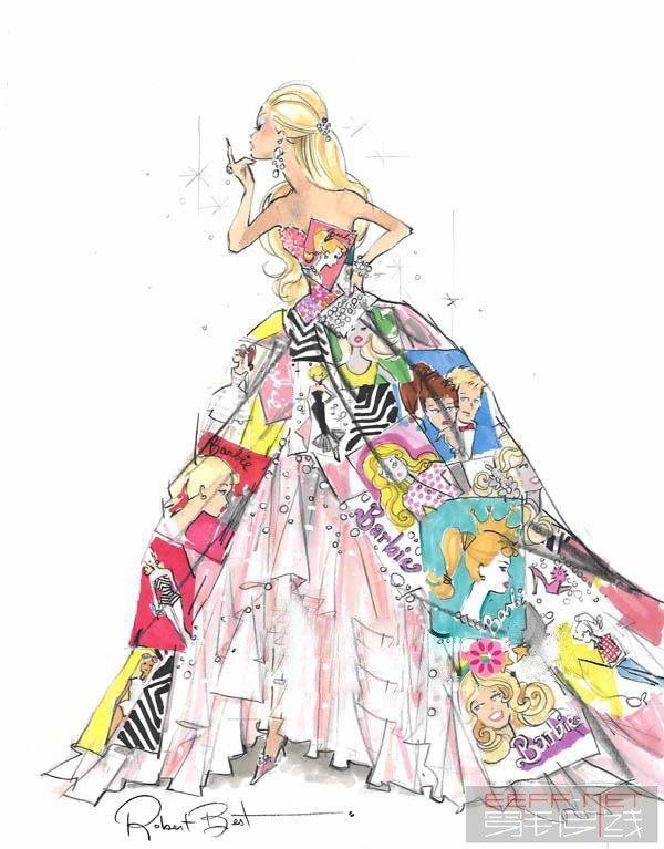 服装设计手绘图 服装设计效果图 手绘插画 手绘人物JPG-(图片编号:10059878)-设计宝