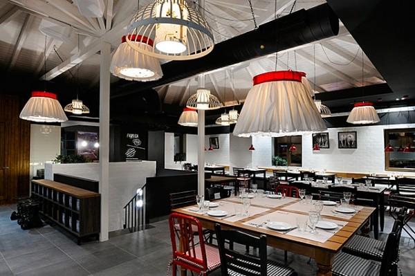 食肉餐厅工业风格室内装饰装修设计实景图