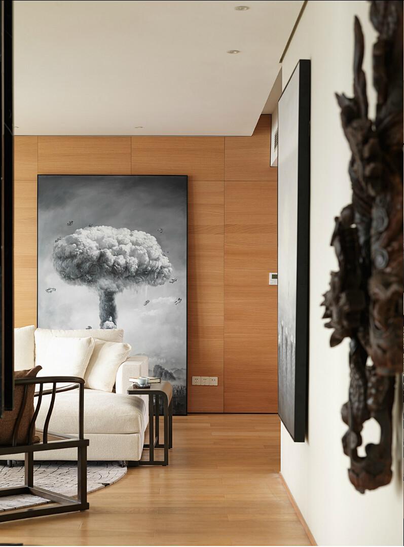 珑园中式样板间现代简约风格住宅设计室内装修家装设计效果图实景图