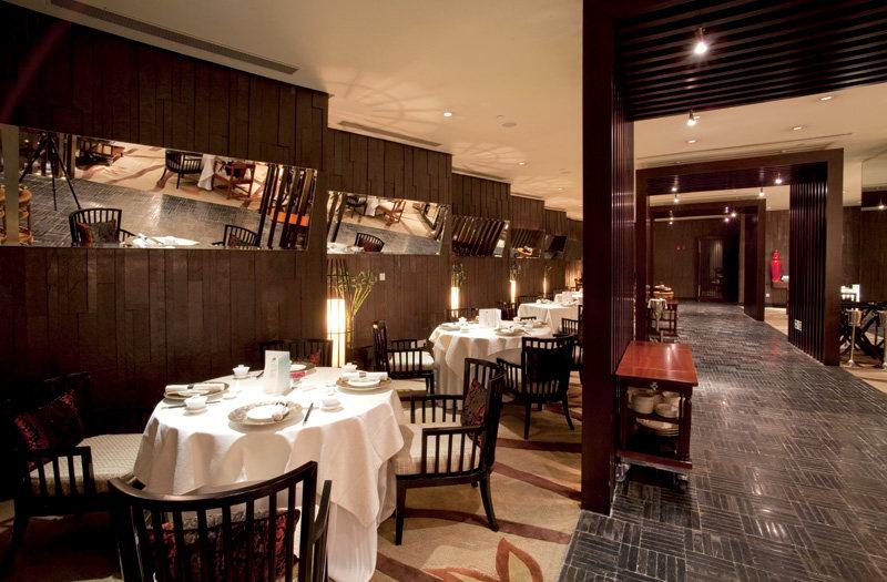 红棉中餐厅中式风格室内装饰装修设计实景图