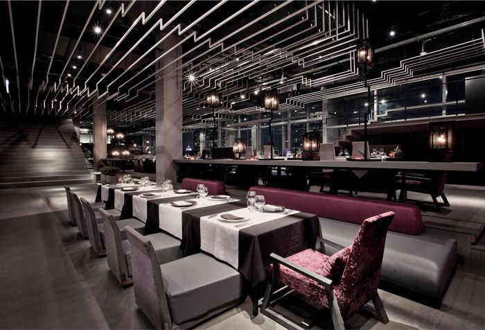 曼谷zense时尚餐厅设计工业风格室内装饰装修设计实景