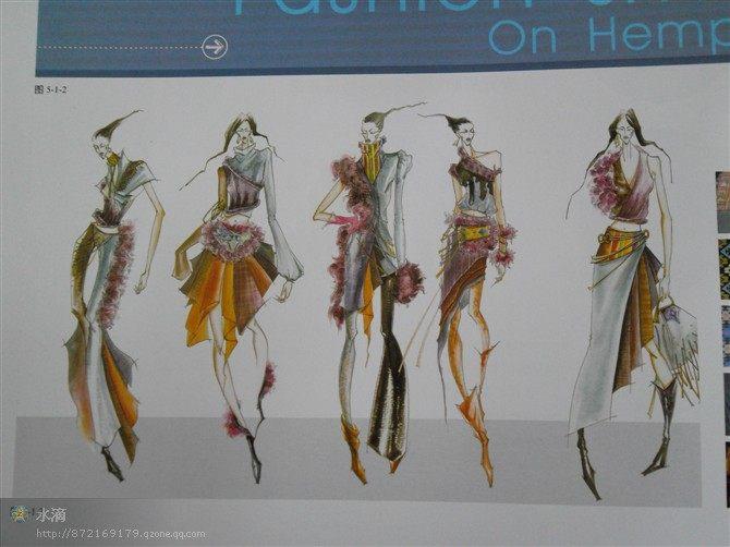 服装设计效果图 服装手绘图图片