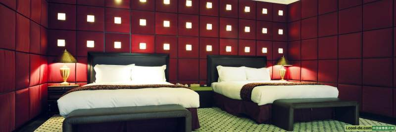 台湾汽车旅馆内部空间设计混搭风格宾馆酒店室内装饰装修设计实景图