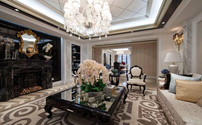 上海宝山美兰湖样板房古典风格家装住宅空间装饰装修家装设计实景图