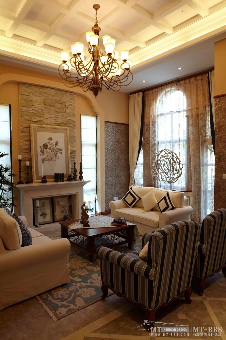 地中海风格别墅样板间地中海风格家装住宅空间装饰装修家装设计实景图