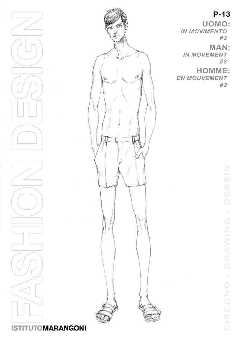 人體結構人物線稿 服裝設計手繪圖 服裝設計效果圖 黑白線稿