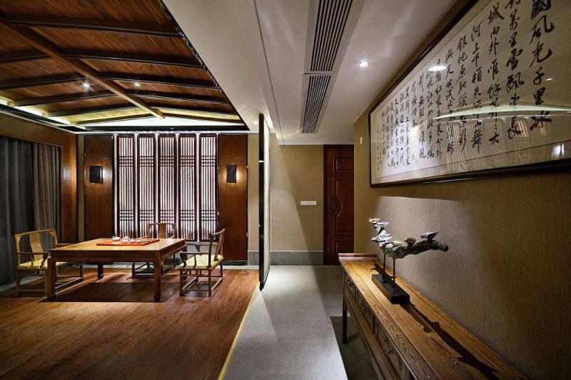 林鸿设计作品--福州麓舍餐饮会所中式风格室内装饰装修设计实景图