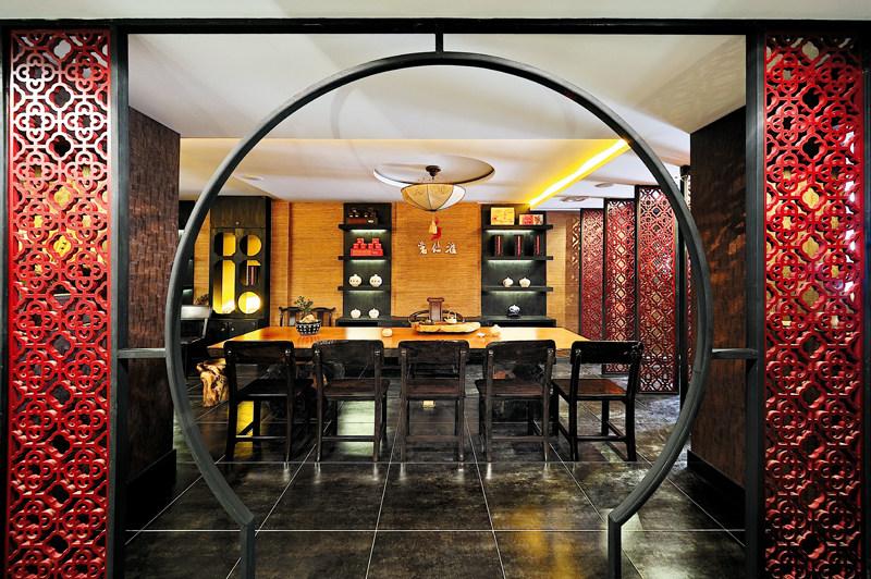 饮食环境 餐饮会所效果图 材质 咖啡 色调 新中式 传统 中式 纹样