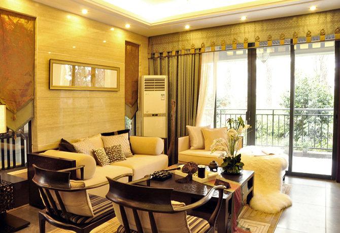 天府人居c户型样板间古典风格家装住宅空间装饰装修家装设计实景图