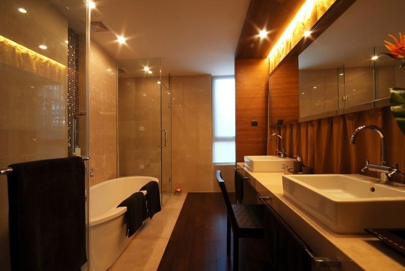 梁志天上海滩花园新中式风格住宅别墅家居家装室内装饰装修设计实景图