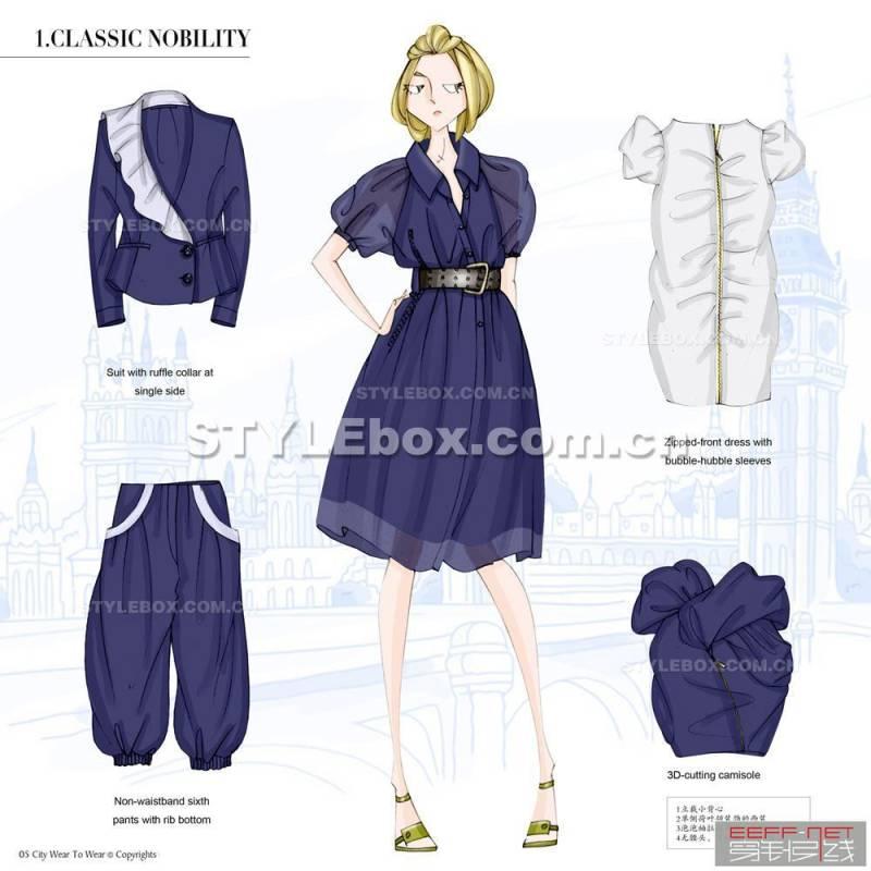 服装设计效果图 服装手绘图