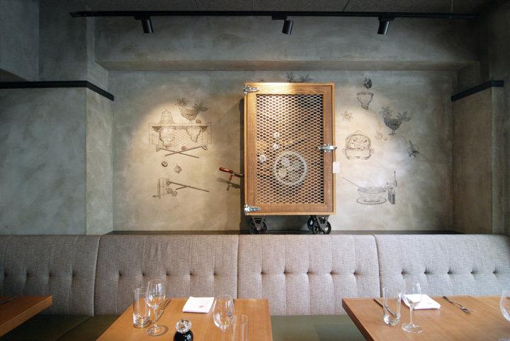 美術品愛好者的天堂--香港西班牙餐廳工業風格室內裝飾裝修設計實景圖圖片
