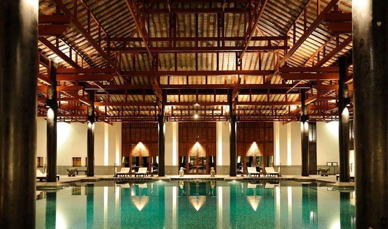 杭州富春山居度假村设计中式风格宾馆酒店室内装饰装修设计实景图