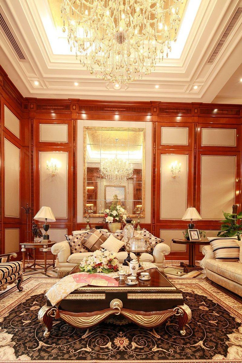 b-1型别墅—中世纪古典古典风格家装住宅空间装饰装修家装设计实景图