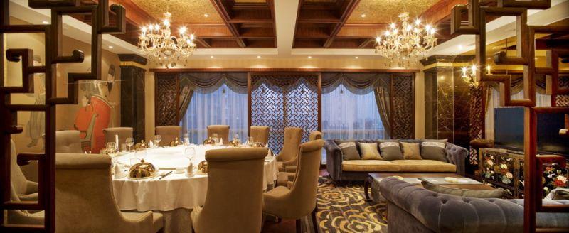上海汉唐酒店 高级中式餐饮空间中式风格室内装饰装修设计实景图