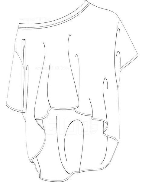 款式设计 服装设计手绘图 服装设计效果图 手绘插画 手绘人物图片