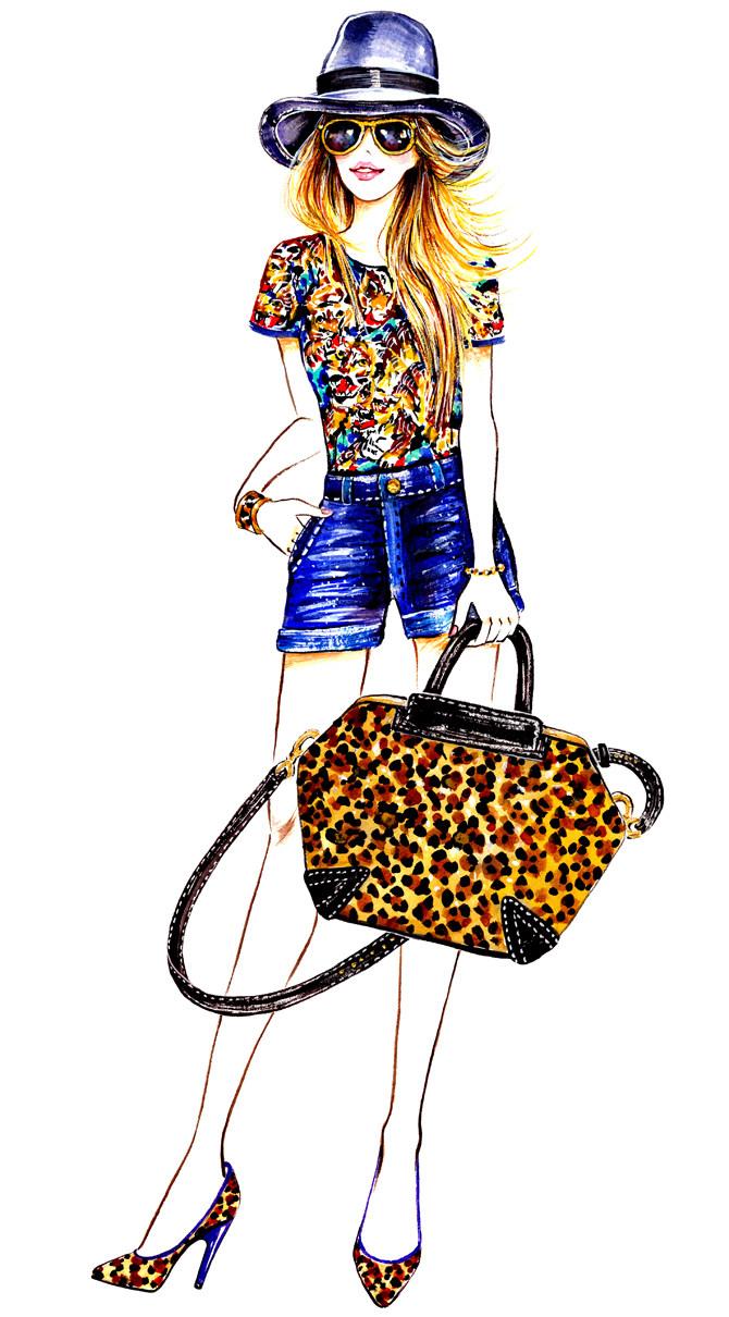马克笔服装手绘 服装设计手绘图 服装设计效果图