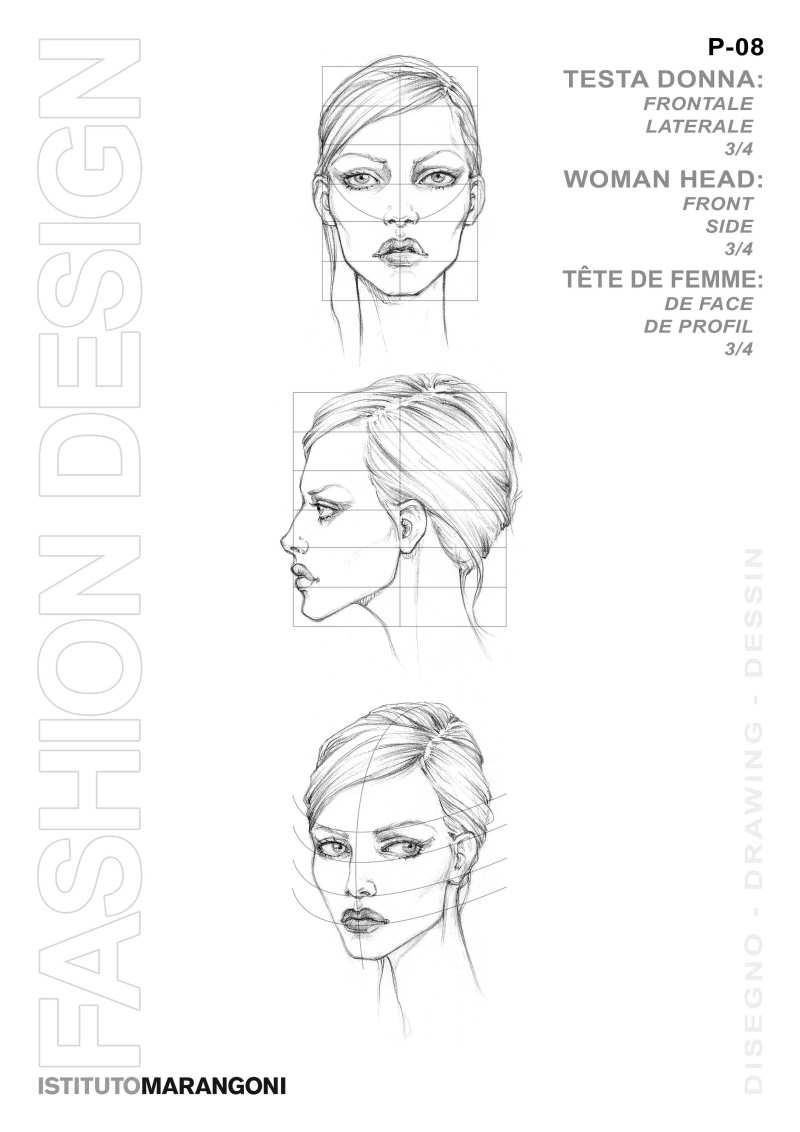 人体结构人物线稿 服装设计手绘图 服装设计效果图 黑白线稿图片
