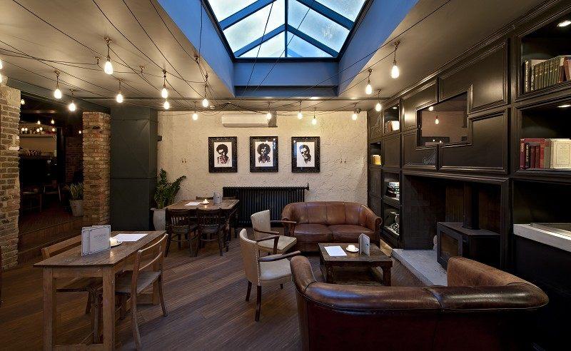 英国伦敦女王公园Alice餐厅工业风格室内装饰装修设计实景图