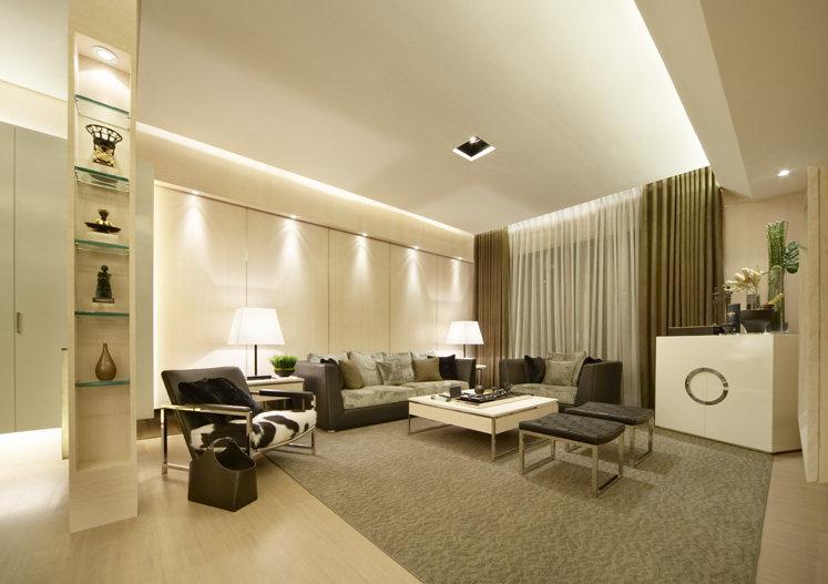 山妍四季現代簡約風格樣品屋室內設計室內裝修家裝設計效果圖實景圖