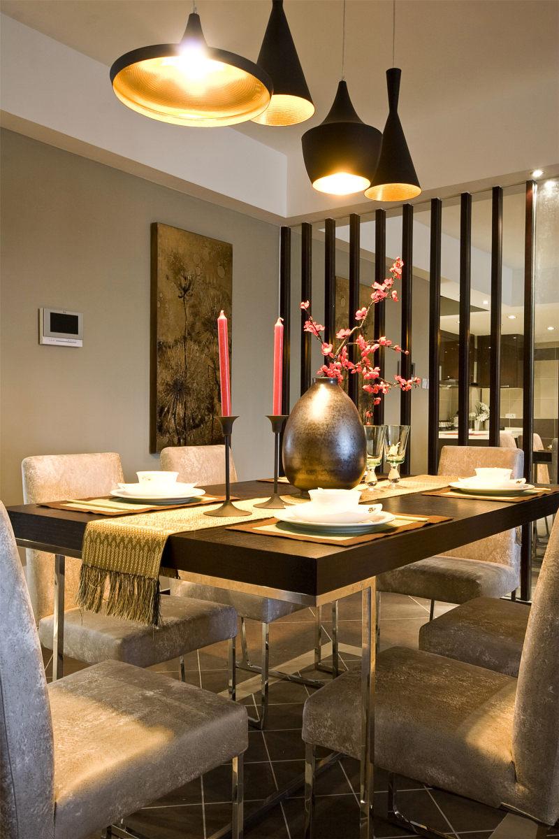 云南昆明-镜面光新中式风格住宅别墅家居家装室内装饰装修设计实景图