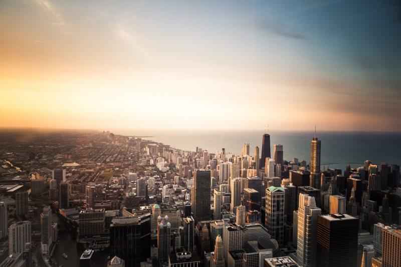 城市远景风光高清背景摄影图