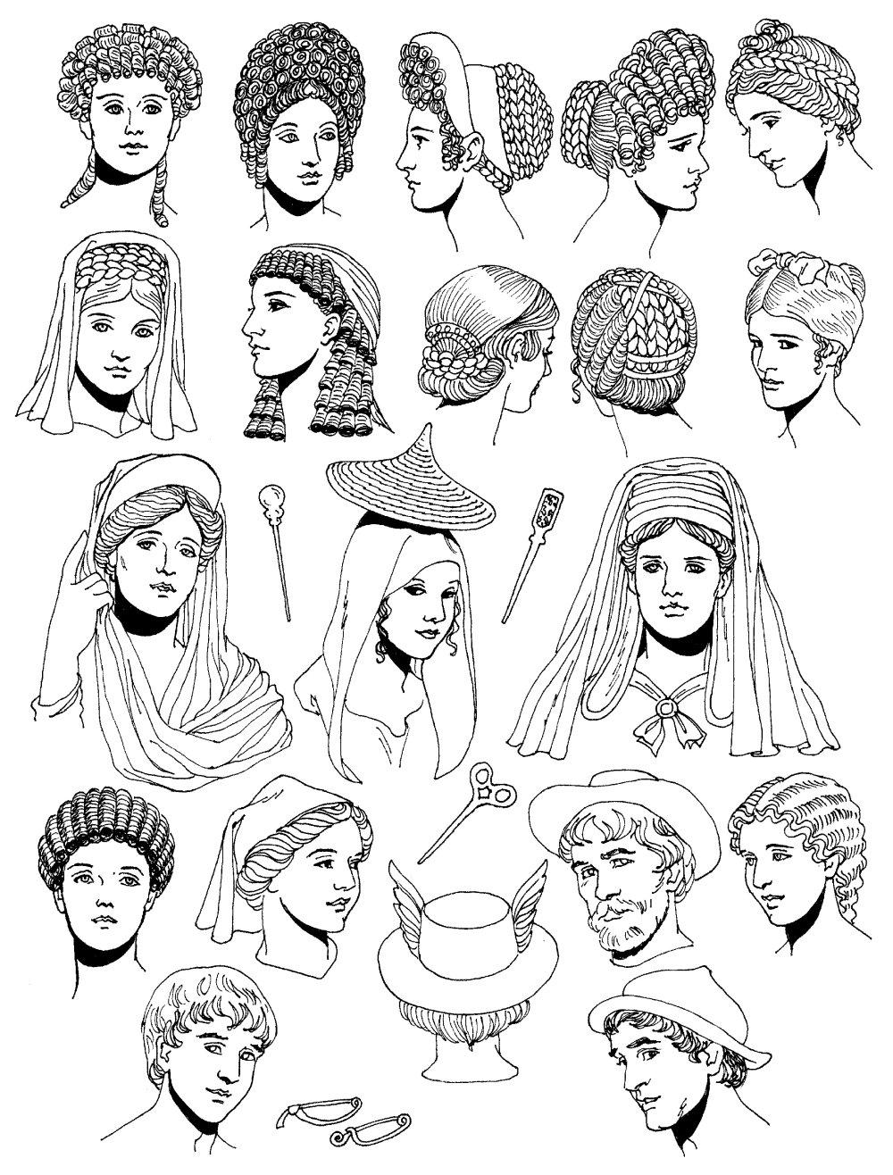 中世纪人物头像素材