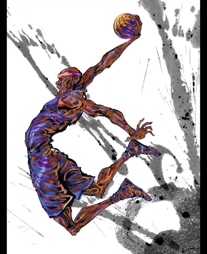 平面/广告 图形图案纹样 插画素材 水墨运动篮球  插画素材卡通插画素