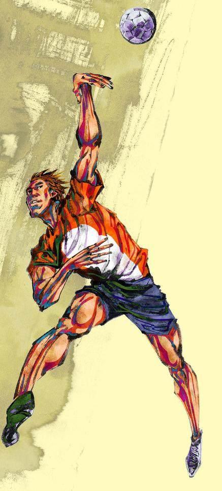 平面/广告 图形图案纹样 插画素材 水墨运动男子排球  搜索