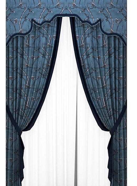 软装素材 窗帘 中式窗帘 新中式风格美式窗帘样式  中式软装 窗帘素材
